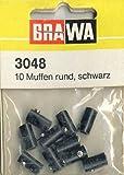 Brawa 3048 Muffen 2,5 rund, schwarz [10 St.]
