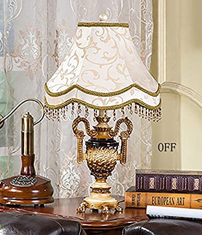 MILUCE palais rétro délicat résine sculpture salon Lampe de table chambre de table den