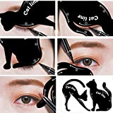 12shage Eyeliner Schablone Katze Form Cat Eyeliner Vorlage Smoky Lidschatten Applikatoren Augen Make-up Werkzeug