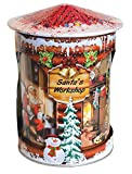 Grandma Wild's Santa's Workshop Musical Rotating Tin with...