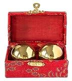 Qi Gong Kugel goldglänzend 40mm