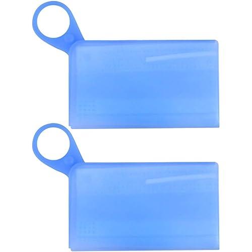 Healifty Scatola di Immagazzinaggio Bocca Trasparente Sacchetto Antipolvere Bocca Coperchio Portatile Custodia per La Casa Allaperto (blu)