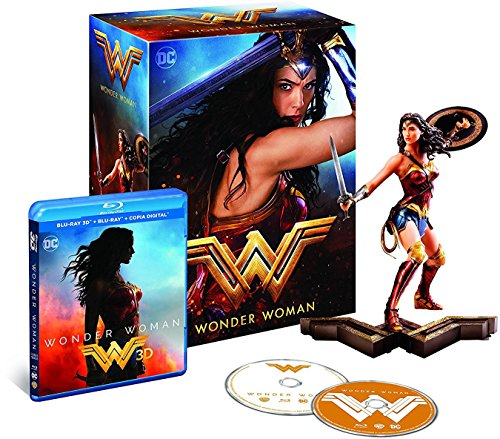 Wonder Woman (Blu-Ray 3D + Figure) - Collector's Edition - Amazon Exclusive Edition [Blu-ray]
