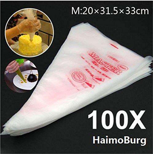 HaimoBurg 100pcs Set Saccapoche Tasca da Pasticcere