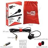 Microphone Lavalier Micro cravate omnidirectionnel avec facile à clipser Système Idéal pour l\'enregistrement YouTube/interview/conférence vidéo/Podcast/enregistreur vocal/iPhone