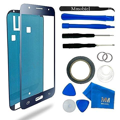Kit de remplacement d'écran tactile pour Samsung Galaxy J5 Duos SM J500F (2015) NOIR inclus: Vitre de rechange / Pincette / Ruban adhésif 2mm / Chiffon microfibre / Kit d'outillage spécifique / fil métallique MMOBIEL