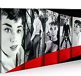 islandburner Bild Bilder auf Leinwand Audrey Hepburn 1K XXL Poster Leinwandbild Wandbild Dekoartikel Wohnzimmer Marke