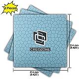 CREOZONE 3D Printing Surface de construcción, 214 mm 8.42 '' Actualizado 100% sin residuos adhesivos después de la sustitución; 200 mm 7.87 '' Impresora 3D Hoja de construcción para plataforma calefactada Plataforma Platform Square. (Blue, 214mm)