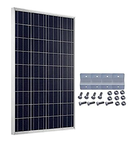 Module solaire ECO Kit de Worthy 100 Watts 12 V Panneau solaire 100 W with Mounting Bracket for Boat Car