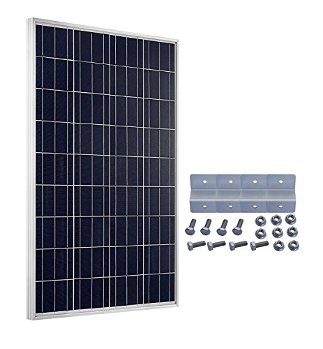 ECO-WORTHY 100 Watts 12V Solarpanel Kit 100W Solarmodul with Mounting Bracket for Boat Car