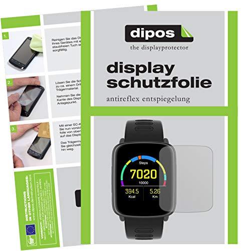 dipos I 6X Pellicola Protettiva antiriflesso Compatibile con Yamay SW018 Smartwatch Pellicola di Protezione