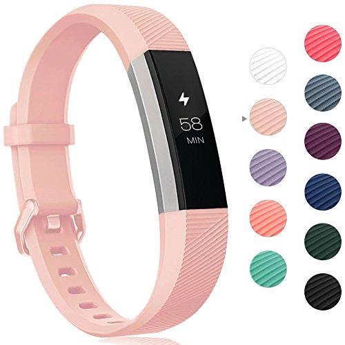 Onedream Armband Kompatibel für Fitbit Alta HR Ace Band Silikon Ersatzarmband Rosa