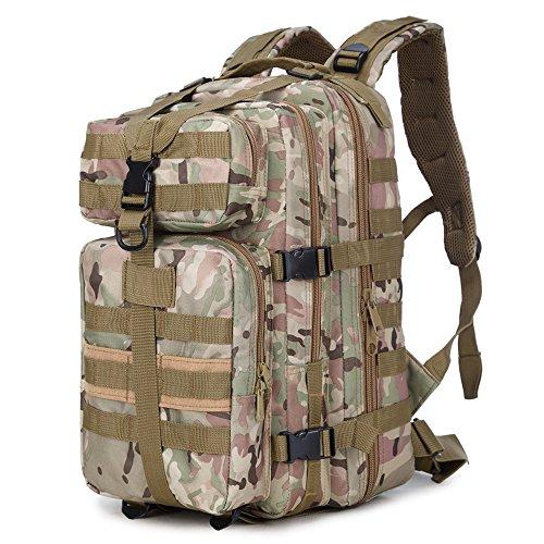 90Punti 36L Esercito Militare Tattico Zaino, Zaino tattico, impermeabile campeggio escursionismo backpack-1Pack, colori assortiti, CP Camouflage - Army Surplus Camouflage