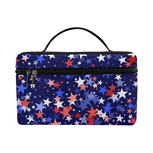 4. Juli Vector Graphic Design Muster Lunchbox Tote Bag Lunch Holder Insulated Lunch Cooler Bag for Women/Men/Picknick/Booting/Strand/Angeln/Schule/Arbeit