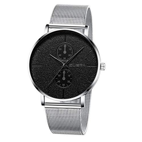 XZDCDJ Herren Uhren Frau Uhr Herren Uhren Angebote Luxusuhren Quarzuhr Edelstahl Zifferblatt Beiläufige Armbanduhr 75 -