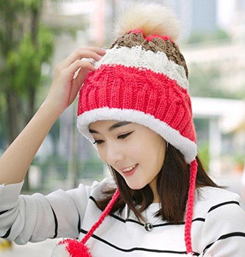 Chapeau Femmes Automne et Hiver Loisir Bovins Sauvages Femmes Casquette Tab Gros Chapeau Tricot Hiver Femme ( couleur : # 6 ) 1#