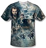 El Hobbit batalla de Cinco Ejércitos Epic Póster Poly niños jóvenes T-Shirt blanco