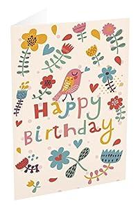 Grupo Erik Editores TF00237 - Tarjeta de felicitación, 11 x 16 cm, diseño Happy Birthday