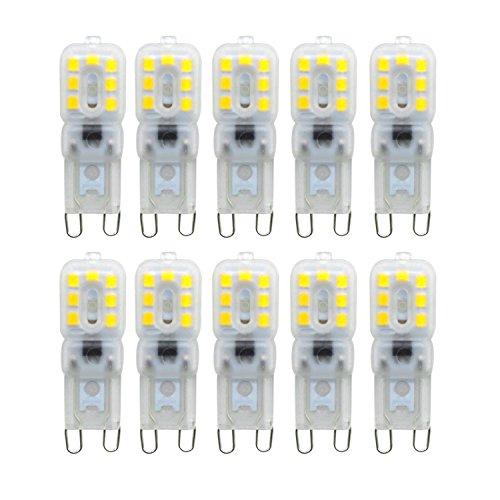 Bombilla LED G9 Bombilla LED para maíz G9 Base bi-pin 14LED 4W (Reemplazo equivalente de 40W Lámpara halógena) Bombilla LED para maíz Se aplica a la araña de cristal, cocina, restaurantes, galerías de