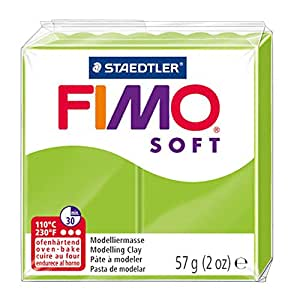 Staedtler 8020-50 - Fimo Soft Normalblock, 57 g, apfelgrün