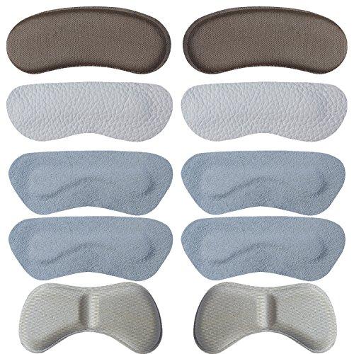 Fersenpolster Fersenkissen Fersenschutz - Zu Große Schuhe Schaumstoff-Set 10 x - Bequeme Geleinlagen für Volumen Damen