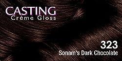 LOreal Paris Casting Creme Gloss, Sonams Dark Chocolate 323, 87.5+72ml with Ayur Product in Combo