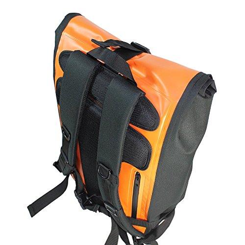 Red Loon Kurier Rucksack Courier Bag Kuriertasche LKW-Plane Backpack Kurierrucksack orange