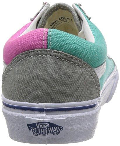 Vans U Old Skool, Baskets mode mixte adulte Multicolore - Multicolor (Gray/Pink)
