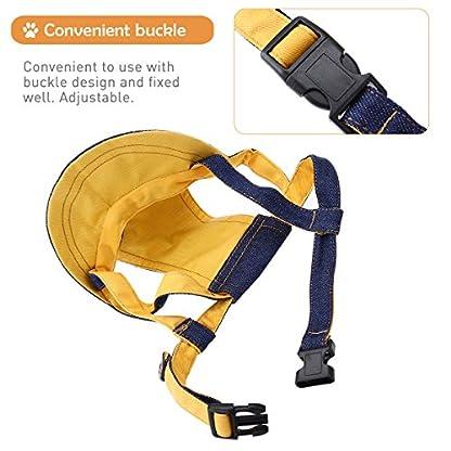 UEETEK Pet Dog Puppy Baseball Cap Visor Hat Sunhat Adjustable Chin Strap Sunbonnet 3