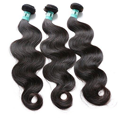 Cheveux Vierges brésiliens Ondulés 3 lots 300 g Total Grade 5 A Cheveux Vierges naturels non traités tissage cheveux trame de longueur (14 16 18) couleur naturelle ne s'emmêle pas