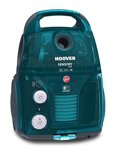 Hoover Sensory Evo so60par Staubsauger Schlitten Dual, 3.2liters, 72decibeles, Blue Caledonia transparent (Teppich Hoover Reinigung)