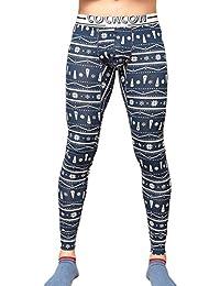 Pantalón Térmico para Hombre,Bmeigo Long Johns algodón Calzoncillo largo Compression Leggings Impresión Tights