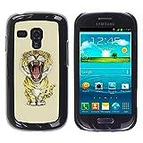 Paccase / Tasche Schutzhülle Case Cover Hülle Für - Meow Big Tiger Lion Cat - Samsung Galaxy S3 MINI NOT REGULAR! I8190 I8190N