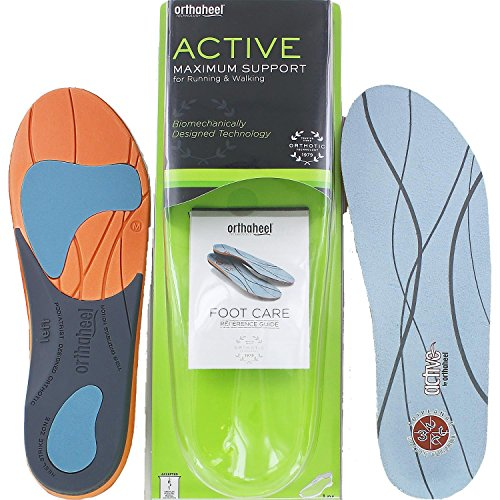 894d1ad42a Orthaheel Full-Length Orthotic Insoles for Active Men and Women - Men's  11.5-13