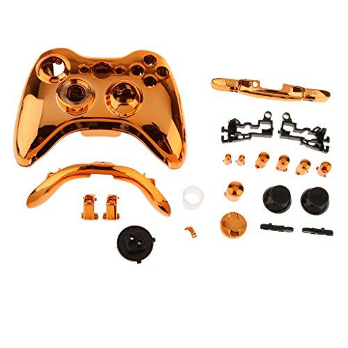 Xbox Rosa Für Controller 360 Wireless (Ersatz Shell Tasten Kit Schutzhülle Gehäuse Schutz Case Cover für Xbox 360 Wireless Game Controller - Orange)