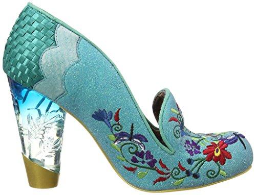 Irregular Choice - April Showers, Scarpe col Tacco Donna Turchese (Turquoise)
