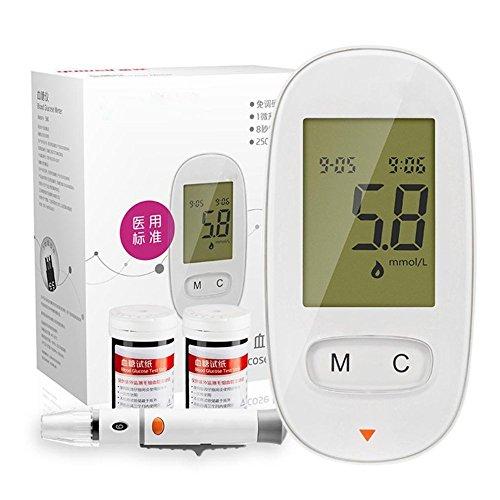 ZCCZ Blutzucker-Tester Kit automatisch (mit Blutzucker-Test Paper + Blut-Nadel)