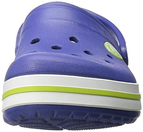 Crocs Band K, A bout rond mixte enfant Bleu (Cerulean Blue/Volt Green)