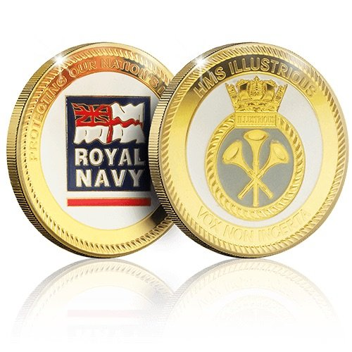 The Royal Navy Collection Gold Coin Medal - HMS Illustrious