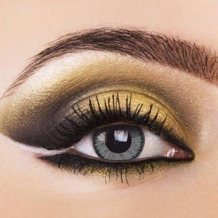 Eye Effect Grau Dual Tone Kontaktlinsen (1Paar) - Farbige Kontaktlinsen+ Kontaktlinsenbehälter