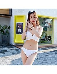 KLXEB Coffre Rassemblez Bikini Noir Blanc Impressionnante Maillot de bain Maillot de bain femme, M, noir