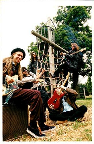 Vintage Photo of The Hoax: Jesse Darvey, Dave Raeburn, Hugh Cockman, Robin Davey and Don Amor.