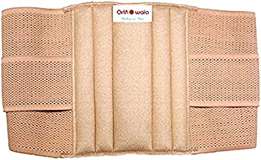 Orthowala ™ lumbar support belt Beige Color -Gold Series -Size -Large-36-40- Inches for Back Lumbar Support Pain Reliever Enhance Back Posture