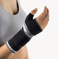 Preisvergleich für Bort 112940 large rechts schwarz ManuBasic Plus Handgelenkbandage mit Daumeneinschluß, rechts oder links tragbar...