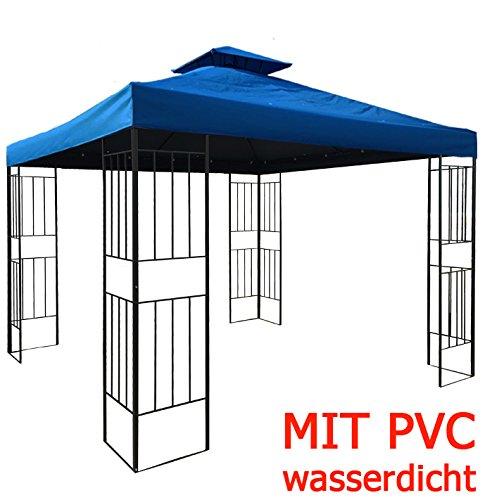 WASSERDICHTER Pavillon Borneo 3x3m Metall inkl. Dach Festzelt wasserfest Partyzelt (Himmelblau)