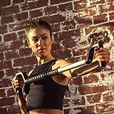 SYWOS One Fitnesstrainer schwarz | Bekannt aus 'Die Höhle der Löwen' | Training ohne Gewichte | Gelenkschonendes Training | Widerstand stufenlos einstellbar | Arm/Schulter/Bauch/Rücken/Brust |handlich