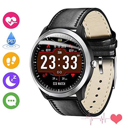 N58EKG PPG Smart Watch Männer IP67 Wasserdicht SportPulsmesserBlutdruckSchrittzähler Sport Fitness Armband Männer Frauen Im FreienElektronik Geräte Gerät für Android ios, LQXXX, Schwarz