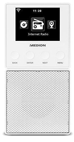 MEDION E85032 MD 87248 WLAN Internet Küchen Steckdosenradio (abnehmbarem Streaming Lautsprecher, integriertes Netzteil mit Ladefunktion, DLNA, UPnP, Steuerung per App) weiß