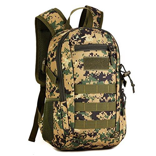 Imagen de huntvp táctical  militar  asalto  gran bolsa de hombro impermeable 12l para las actividades aire libre, senderismo, caza ,viajar, color camuflaje de la selva