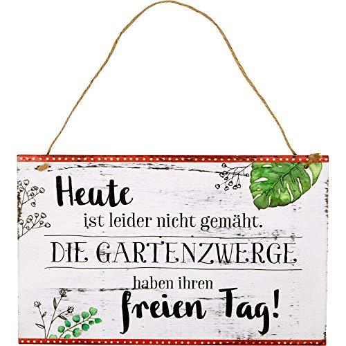 Die Spiegelburg 15694 Gartenschild \'Heute ist leider Nicht gemäht...\' I l.m.Garden